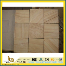 Wooden Yellow Sandstone for Wall Tile/Cladding (YYT)