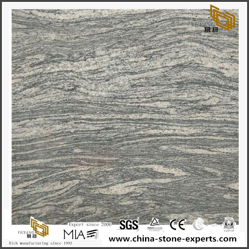 Dark Grey Colombo Juparana Granite Tiles For Countertop