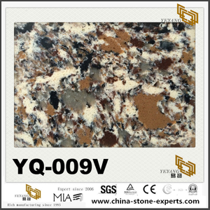 High Quality YQ-009V Granite Vein Quartz Outlet Sale