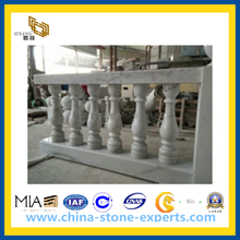 White Marble Handrails for Terrace(YQG-PV1076)