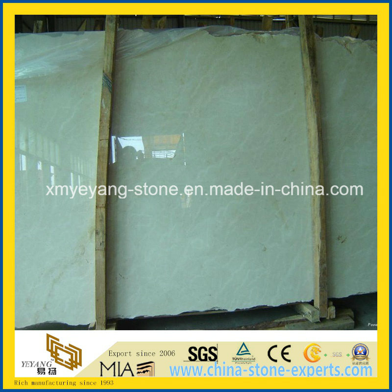 Crema Marfil Marble Slab for Hotel Floor or Wall Tile