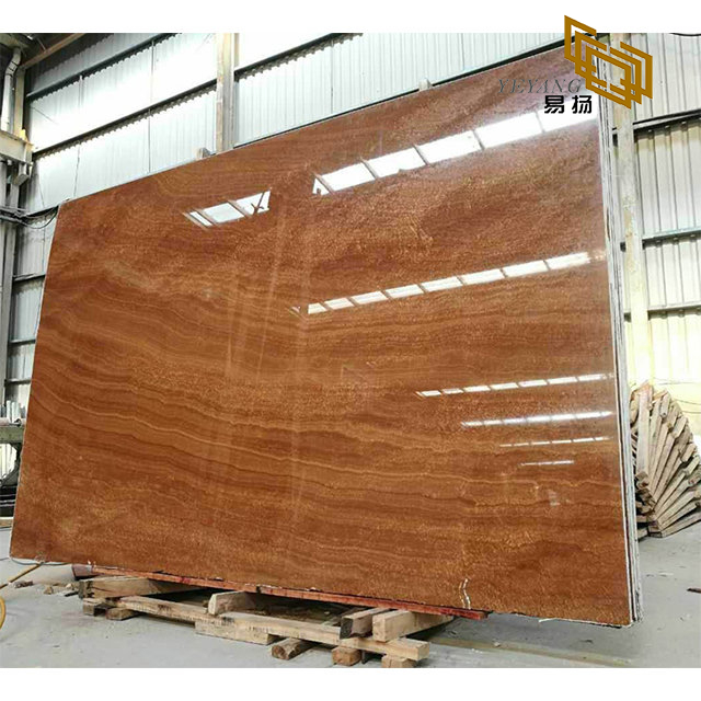 Natural Gold Wooden Vein Marble Stone Slabs/Tiles for Kitchen/Bathroom Countertop Wolesale Outlet