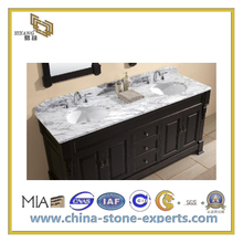 Polished Artificial Quartz Wood Grain White Marble Vanity Top(YQC)