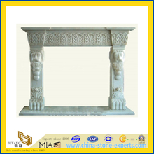 Modern Design White Marble Stone Carved Fireplace for Indoor(YQC)