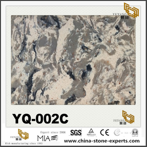 Luxury Quartz YQ-002C Granite Vein Quartz Slabs/Tiles Discount