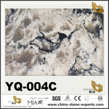 YQ-004C Black and Brown Vein Quartz Aritificial Stone