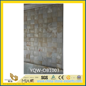 White/Yellow Natural Stone Onyx for Background with Compective Price