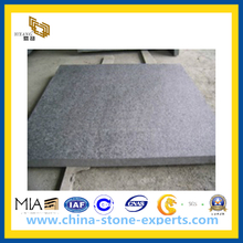 Flamed G684 Black Basalt Tiles for Paving, Wall and Floor (YQW-BT100211)