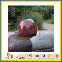 Rolling Ball Water Fountains, Rotating Granite Stone Garden Water Features(YQC)