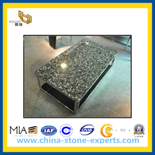 Shell Flower Black Fossil Marble Stone Table Tops(YQG-MC1012)