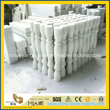 Polished Pure White Jade Stairs Baluster for Interior Decoration