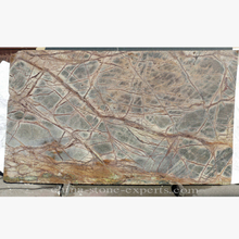 Artical Rain Forest Gold Stripes Green Marble Slab (YQZ-MS1002)