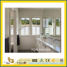 White Carrara Custom Marble Vanity Top for Bathroom, Hotel