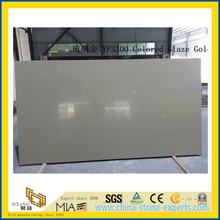 Colored Glazed Quartz Stone Slab for Indoor Decoration