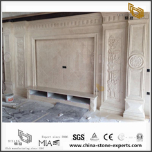 Custom New White Marble for TV Background (YQW-MB0726012)