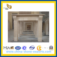 Beige Marble Fireplace for Indoor(YQG-CS1010)