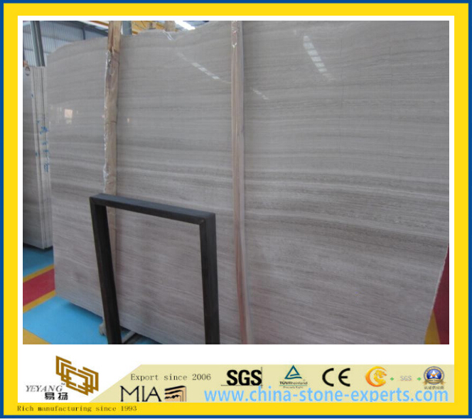 White Wooden Vein Marble Slabs for Flooring, Wall-Yya