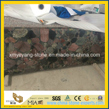 New Material Multicolor Green Granite Counter Top Slab