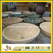 Crema Marfil / Cream Marfil Marble Art Basin for Bathroom