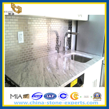 Polished New White Marble Kitchen Countertops (YQZ-MC)