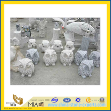 Grey Granite Stone Animal Status Sculpture Carving