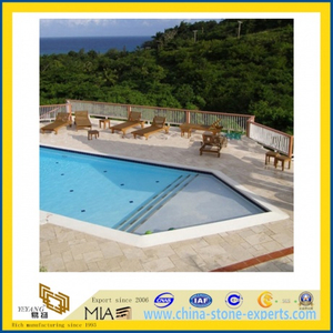 Roman Travertine for Swimming Pool Border Paver Tile