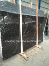 White Vein Black Marble Stone Slabs for Flooring, Countertops