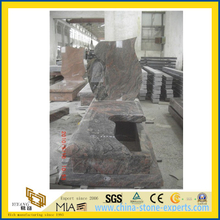 Multicolor Red Granite Stone Tombstone for Momument and Gravestone