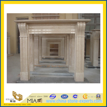 Beige Marble Fireplace for Indoor (YQA-F1001)