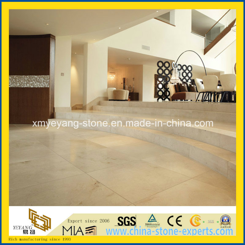 Crema Marfil Marble for Hotel Flooring Tile or Stair