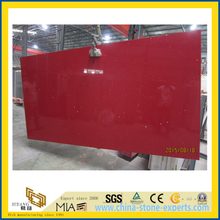 Crystal Red Quartz Stone Slab for Indoor Decoration