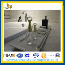 Polished High Quality White Jade Marble Countertop Bathroom Sink(YQG-MC1003)