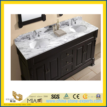 Polished Natural Stone Wood Grain White Marble Vanitytop (YQC)