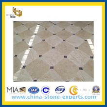 Polished Natural Beige Stone Marble Flooring(YQC)