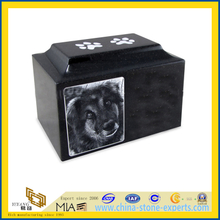 Wholesale Granite Pet Dog Cat Cremation Urn with Engraved Photo