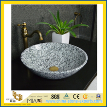 Spray Spoondrift White Granite Sanitary Ware Lavabo Sink for Bathroom
