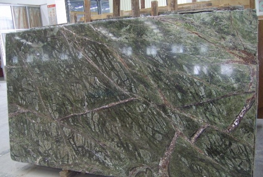 Polished Rain Forest Green Marble Slab for Constrution