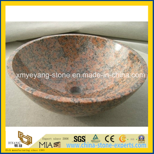 G562 Maple Red Granite Lavabo for Restaurant Bathroom