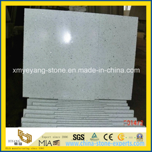 White Sparkle Quartz Stone Floor Tile for Kitchen Decoration