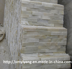 White Quartz Cultured Stone for Wall Cladding