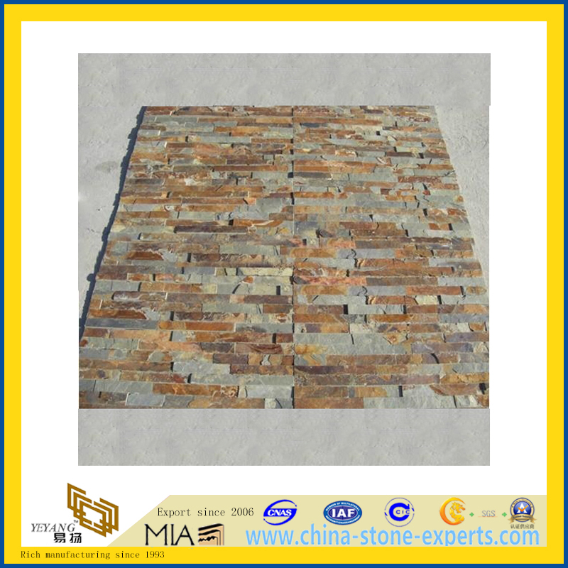 Chinese Natural Culture Stone Mosaic Slate for Wall Cladding (YQA-S1011)