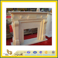 European Yellow Sandstone Fireplace Mantel for Home(YQC)
