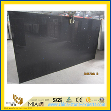 Crystal Black Quartz Stone Slab for Indoor Decoration