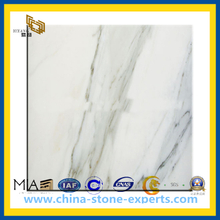 White Carrara Marble for Bathroom Flooring Tile, Slab, Countertop(YQC)