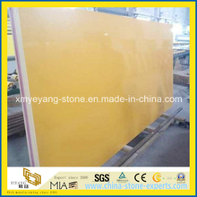 Yellow Artificial Quartz Stone Slab for Benchtop or Island Top