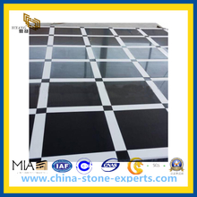 Pure Black and White Marble Tile for Bathroom, Floor, Wall(YQC)