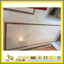 China Polished Castro White Marble Slab for wall tile(YQW)