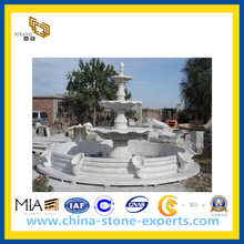 Hunan White Marble Fountain for Garden Decoration(YQG-CS1029)