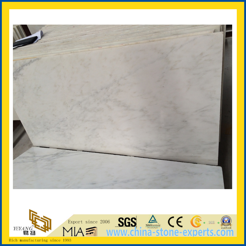 Chinese Snow White Marble Slab for Countertop/Vanity Top/Flooring