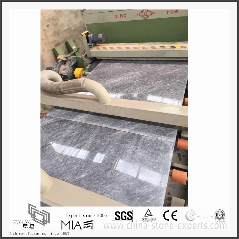 Hot Selling New Roman Ice Dark Grey Marble for Kitchen/Bathroom Countertops & Floor Tiles(YQW-MS31017)